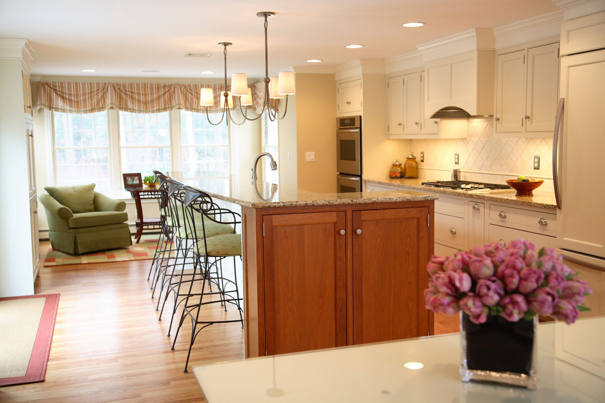 Family Room Kitchen Master Suite Addition Renovation Duxbury Shoreline Builders Inc