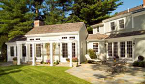 Family Room Three Season Room Addition and Carriage House Hingham